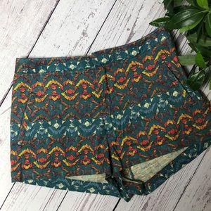 Free People linen blend print shorts